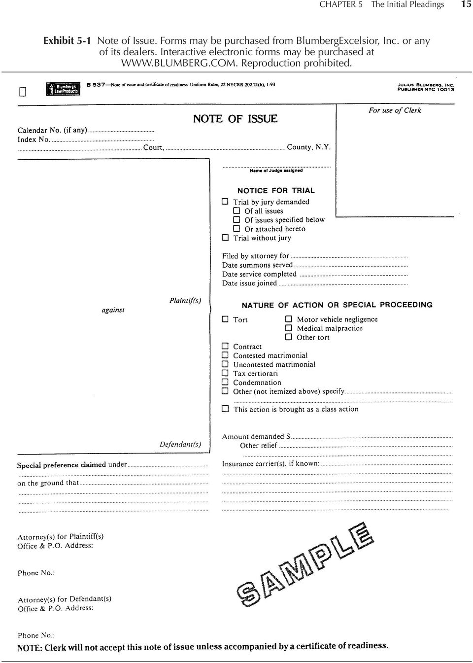 Forms may be purchased from BlumbergExcelsior, Inc.