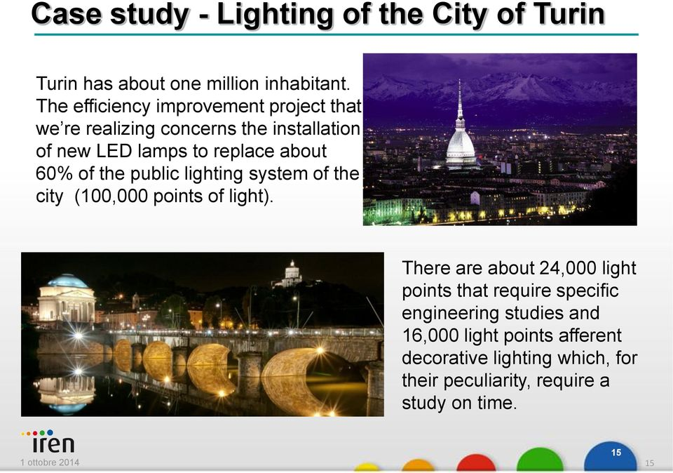 of the public lighting system of the city (100,000 points of light).