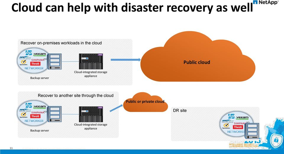 storage appliance Recover to another site through the cloud Public