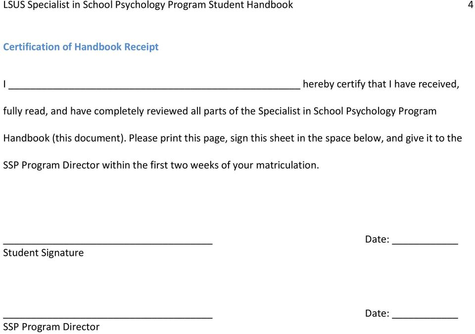 Program Handbook (this document).