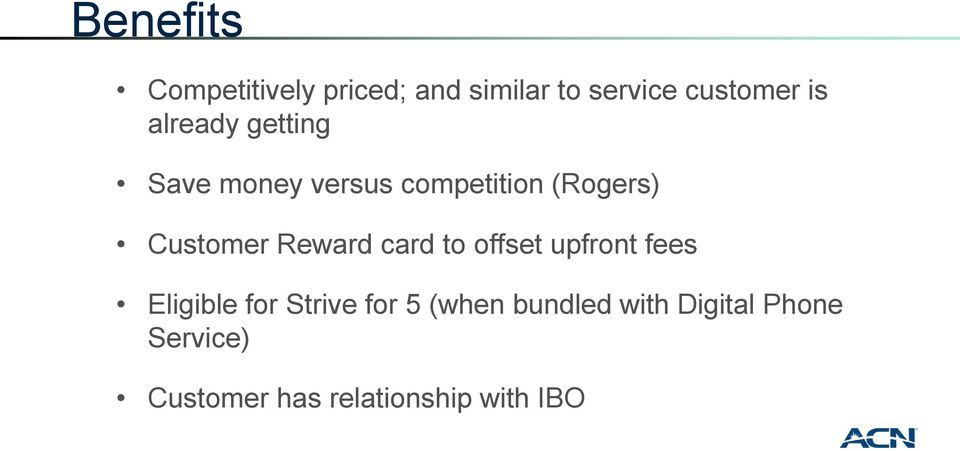 Reward card to offset upfront fees Eligible for Strive for 5 (when