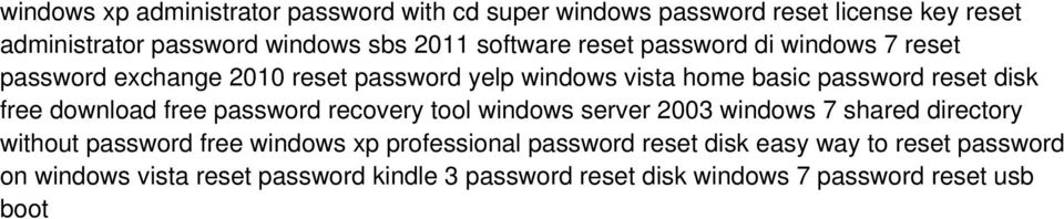 free download free password recovery tool windows server 2003 windows 7 shared directory without password free windows xp