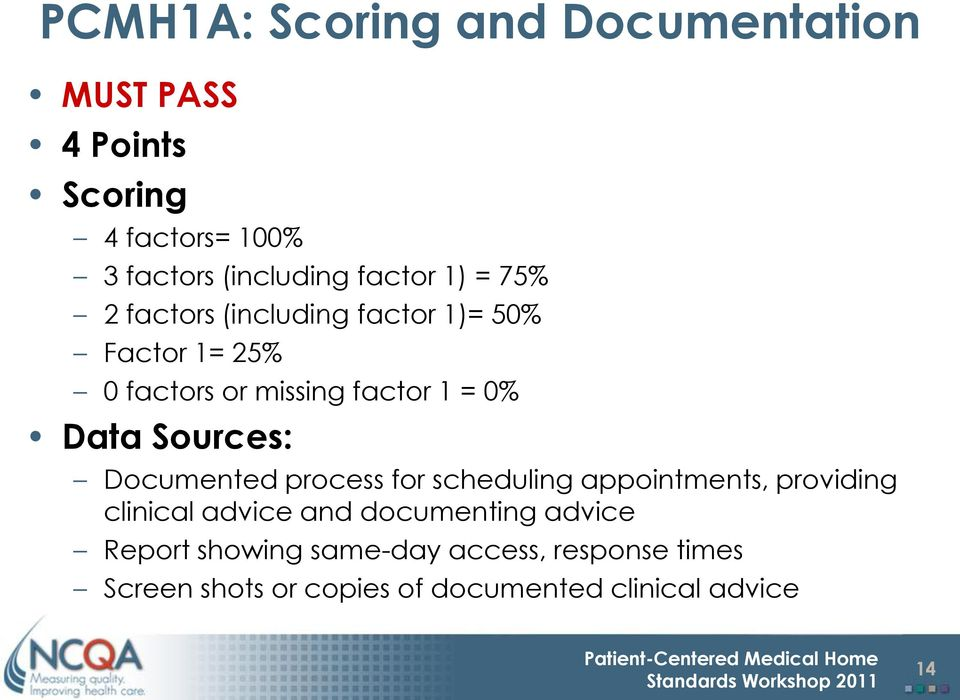Data Sources: Documented process for scheduling appointments, providing clinical advice and