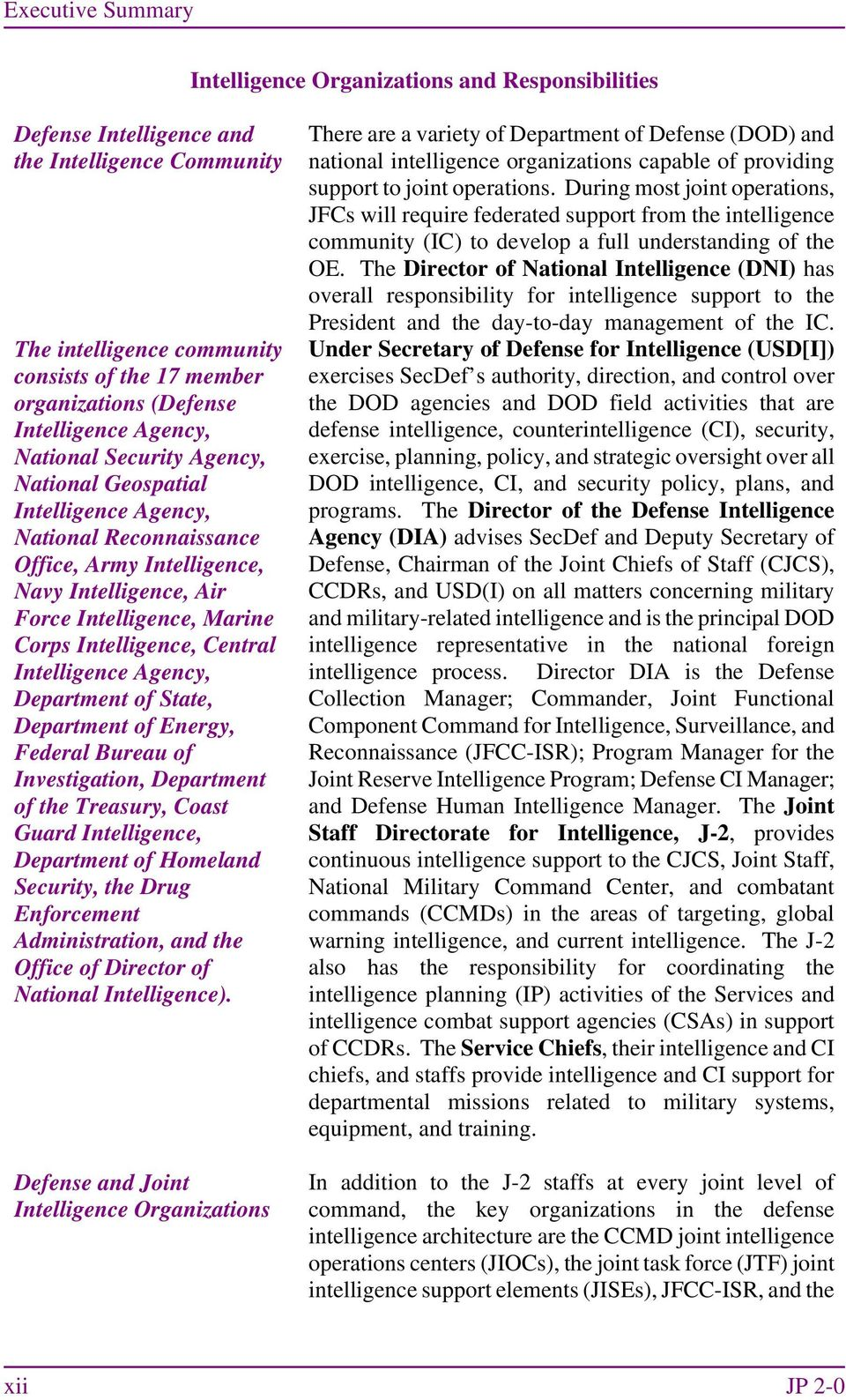 Intelligence, Central Intelligence Agency, Department of State, Department of Energy, Federal Bureau of Investigation, Department of the Treasury, Coast Guard Intelligence, Department of Homeland