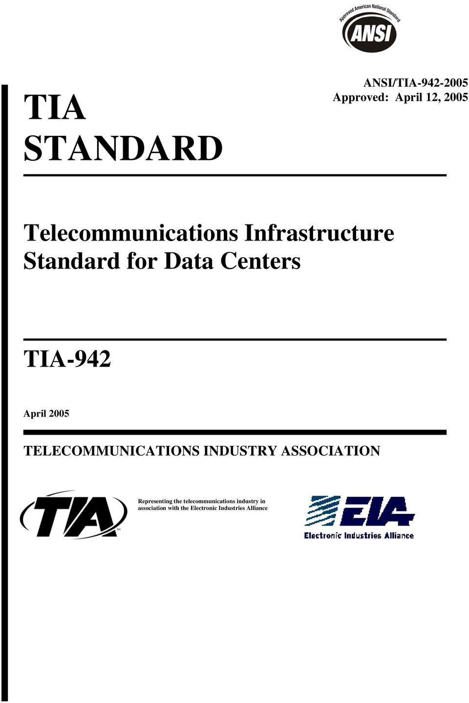 April 2005 TELECOMMUNICATIONS INDUSTRY ASSOCIATION Representing the