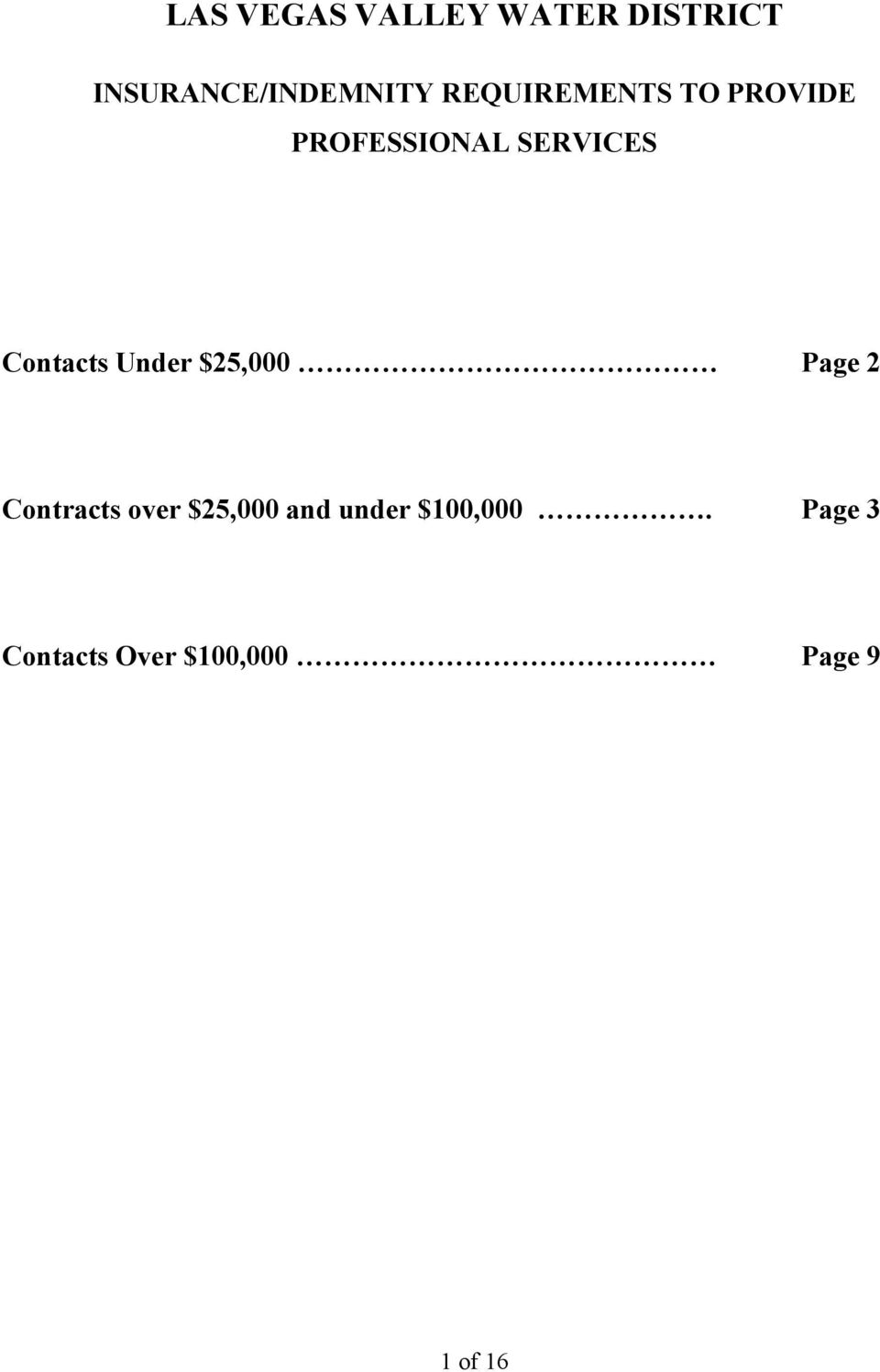 Contacts Under $25,000 Page 2 Contracts over $25,000
