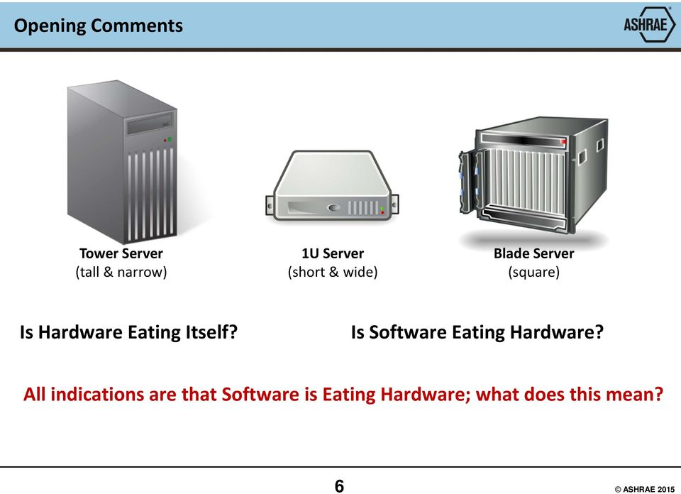 Itself? Is Software Eating Hardware?