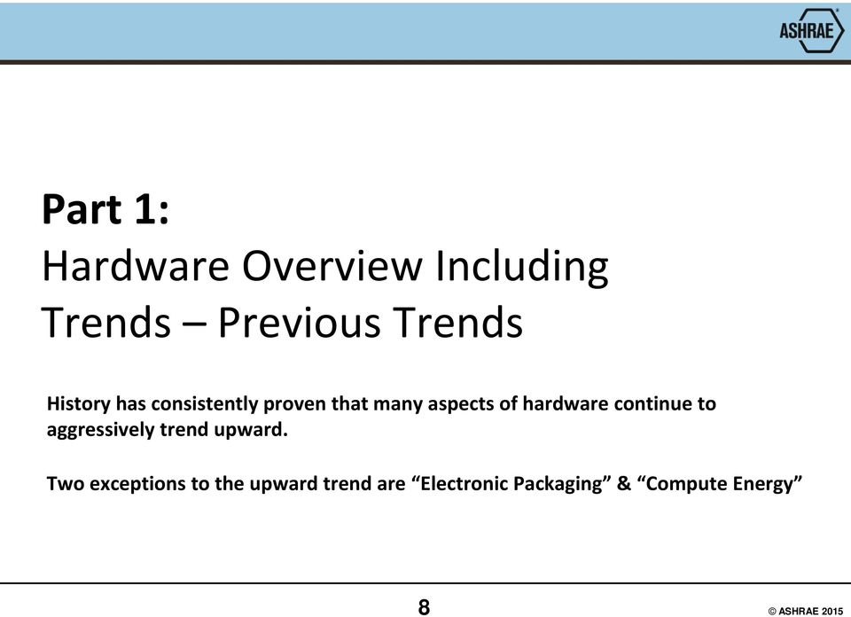 hardware continue to aggressively trend upward.
