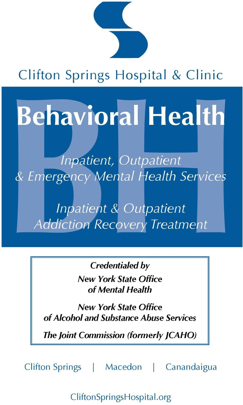 State Office of Mental Health New York State Office of Alcohol and Substance Abuse Services The