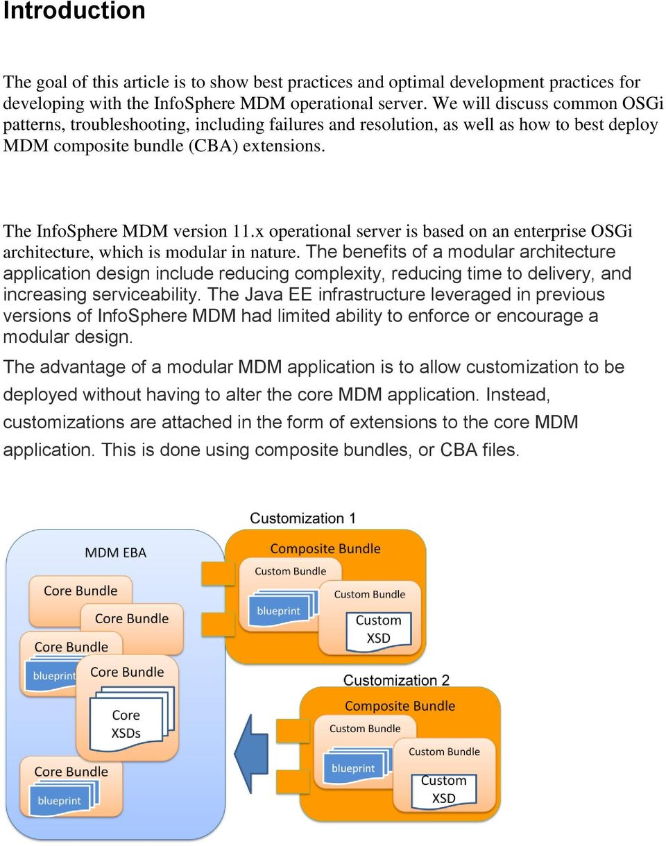 x operational server is based on an enterprise OSGi architecture, which is modular in nature.