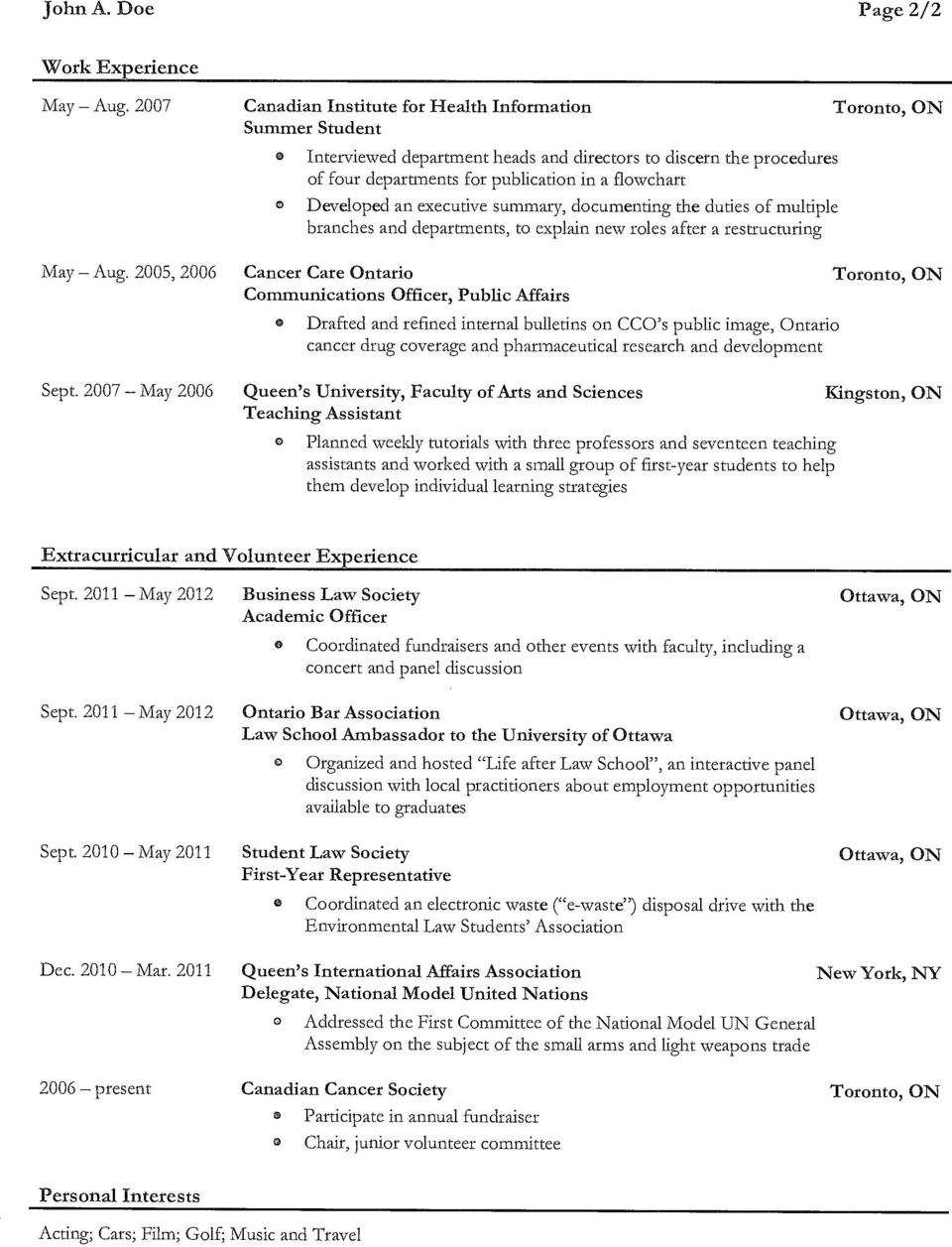 executive summary, dcumenting the duties f multiple branches and departments, t explain new rles after a restructuring May Aug. 2005, 2006 Sept.