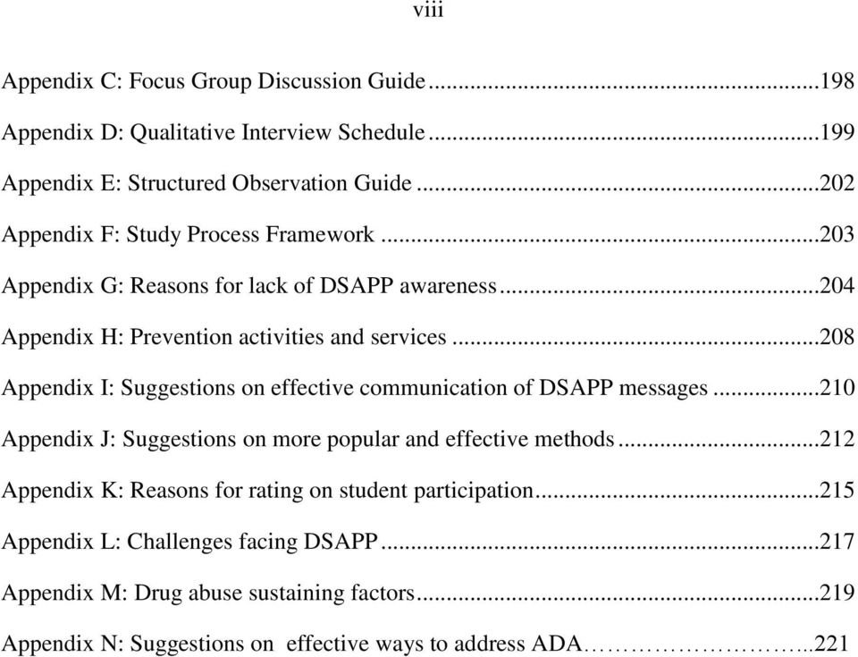 ..208 Appendix I: Suggestions on effective communication of DSAPP messages...210 Appendix J: Suggestions on more popular and effective methods.