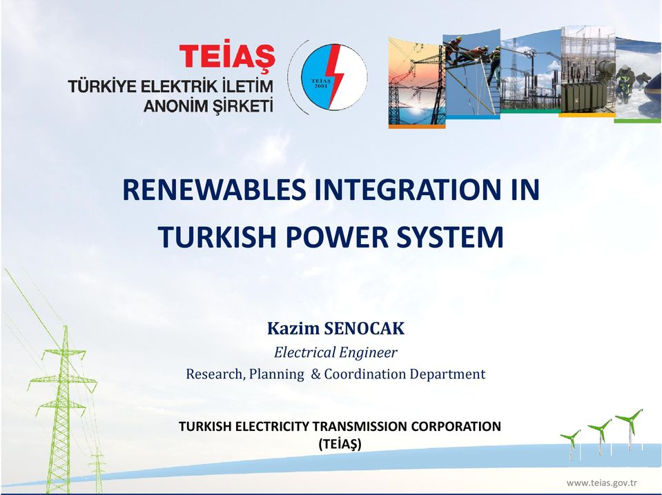 Planning & Coordination Department TURKISH