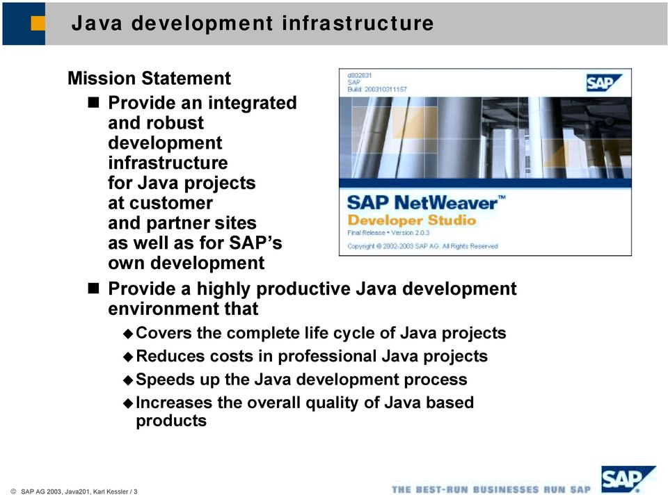 for SAP s own development!
