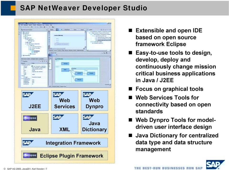 Easy-to-use tools to design, develop, deploy and continuously change mission critical business applications in Java / J2EE!