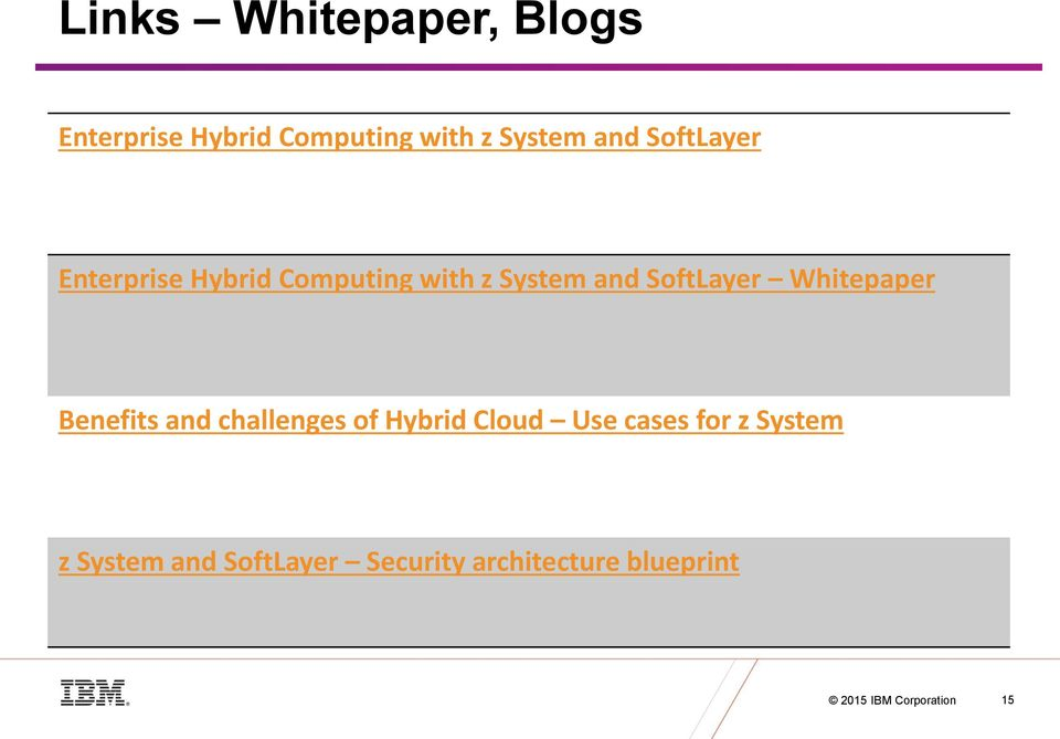 Whitepaper Benefits and challenges of Hybrid Cloud Use cases for z