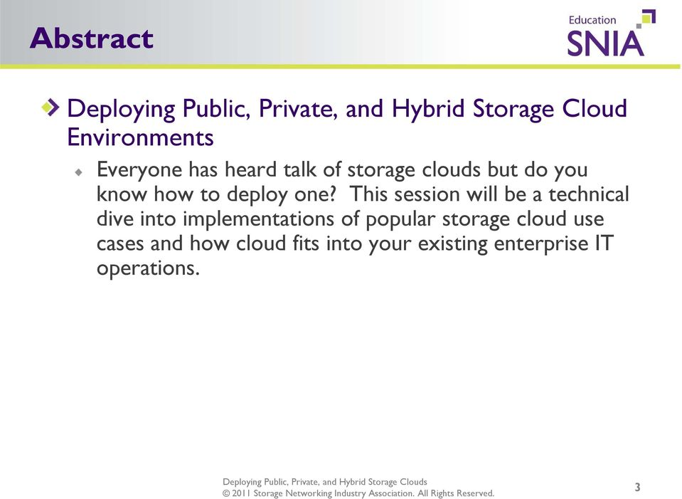This session will be a technical dive into implementations of popular storage