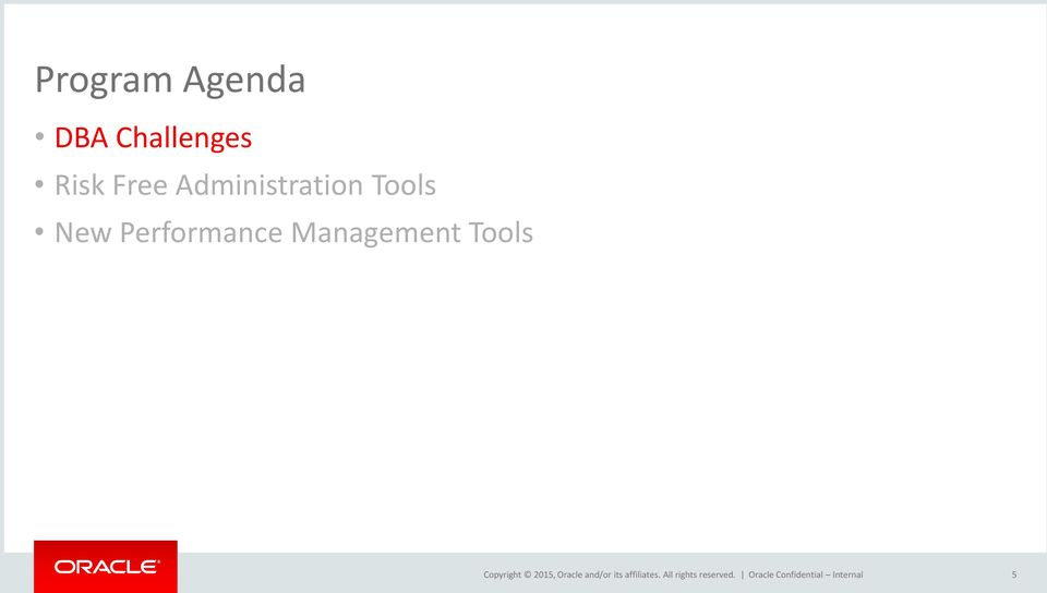 Administration Tools
