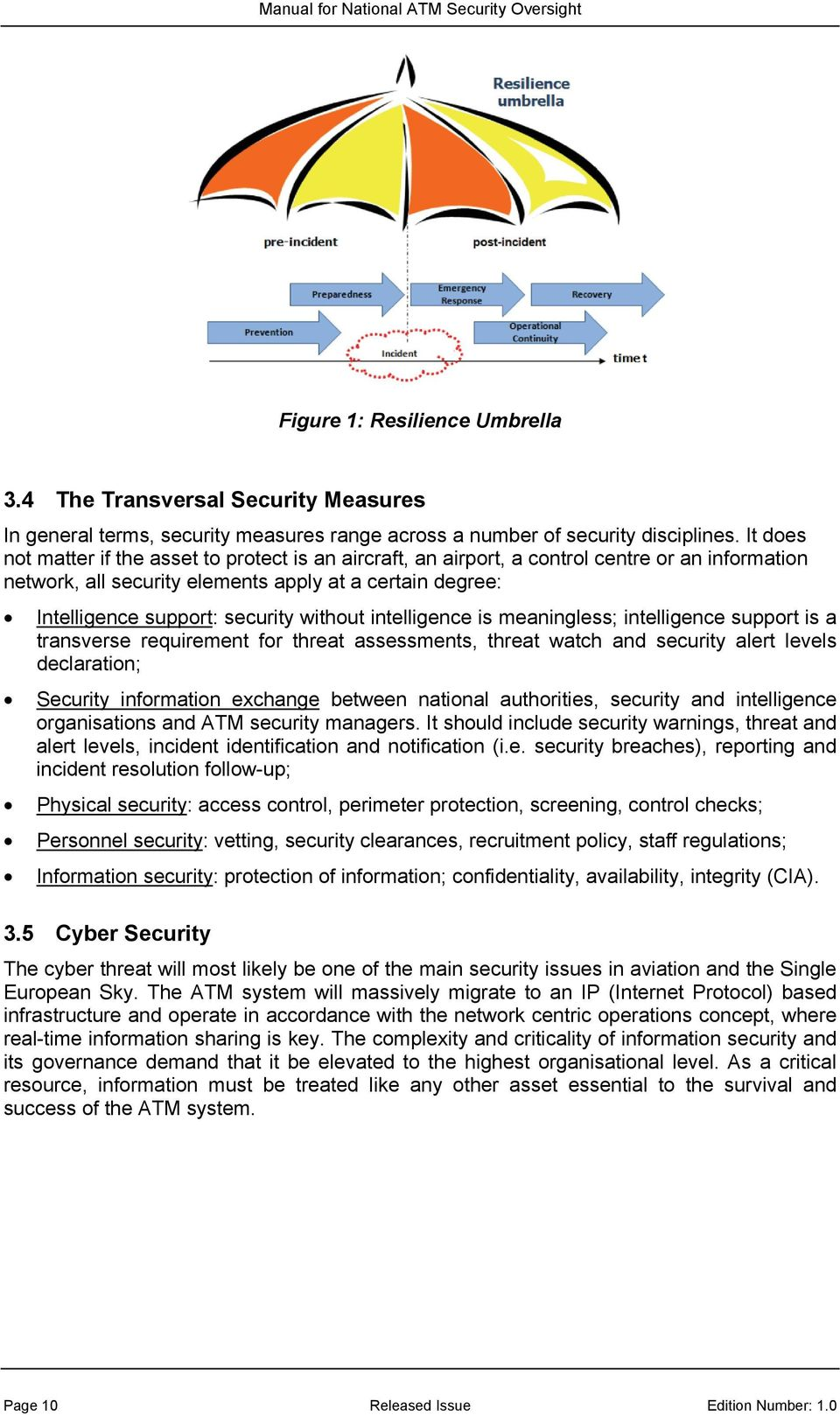 without intelligence is meaningless; intelligence support is a transverse requirement for threat assessments, threat watch and security alert levels declaration; Security information exchange between