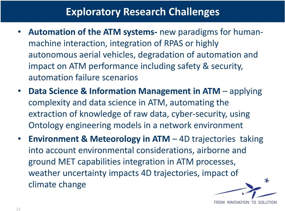ATM, automating the extraction of knowledge of raw data, cyber security, using Ontology engineering models in a network environment Environment & Meteorology in ATM 4D trajectories