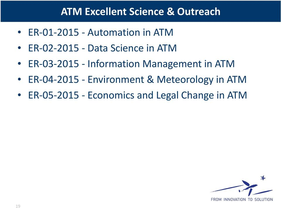 Information Management in ATM ER 04 2015 Environment &