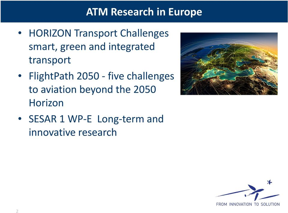 2050 five challenges to aviation beyond the 2050