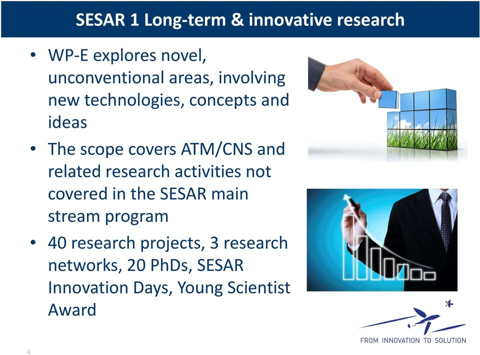 related research activities not covered in the SESAR main stream program 40