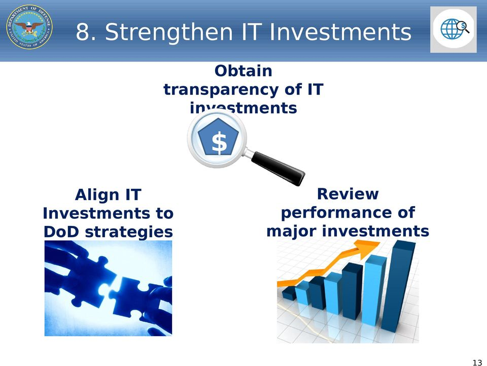 Align IT Investments to DoD