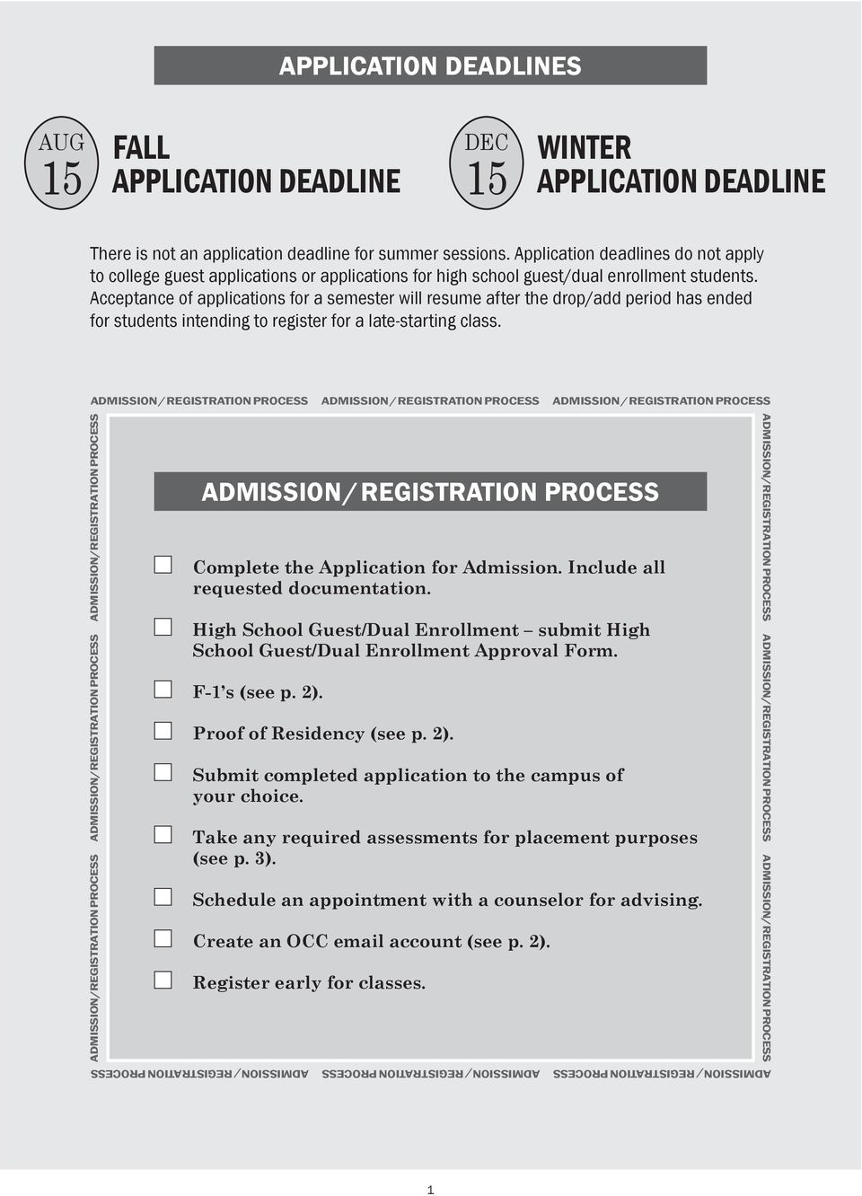 Acceptance of applications for a semester will resume after the drop/add period has ended for students intending to register for a late-starting class.