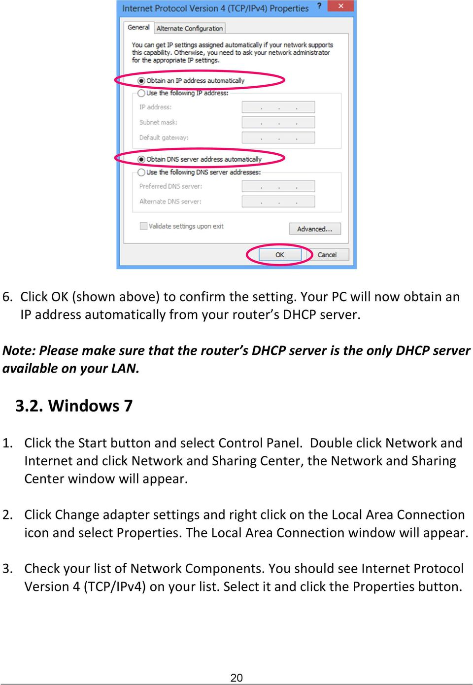Double click Network and Internet and click Network and Sharing Center, the Network and Sharing Center window will appear. 2.