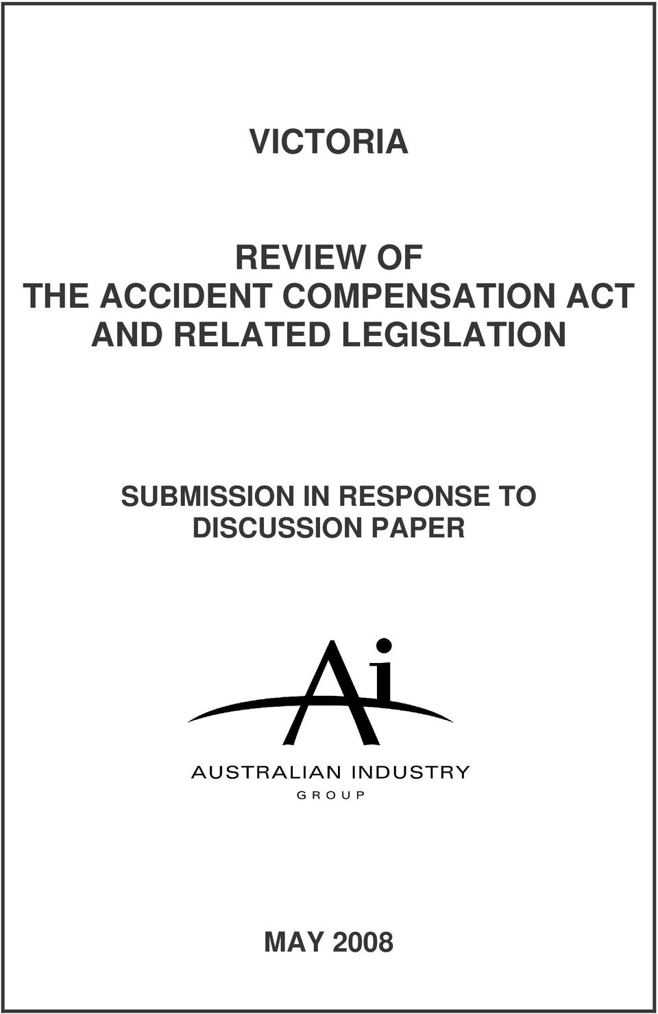 RELATED LEGISLATION SUBMISSION