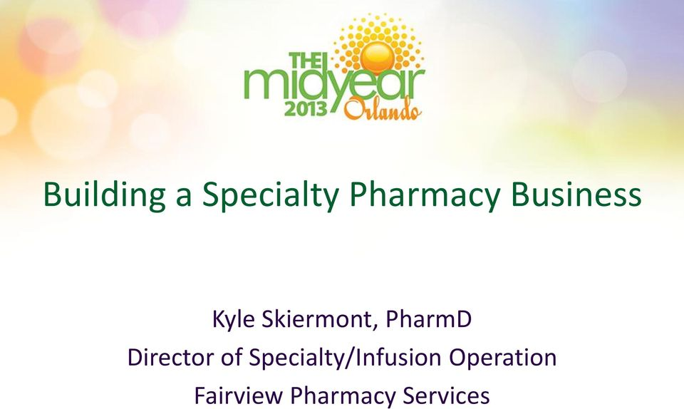 Director of Specialty/Infusion