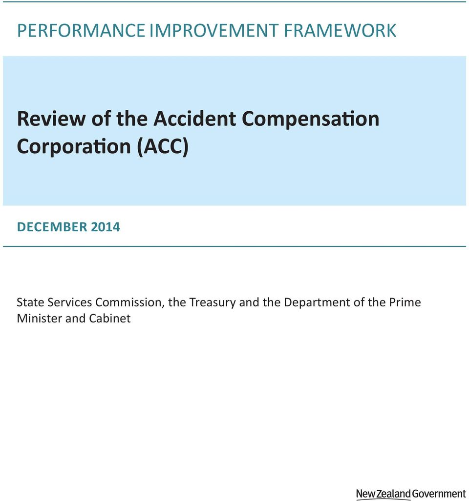 2014 State Services Commission, the Treasury and