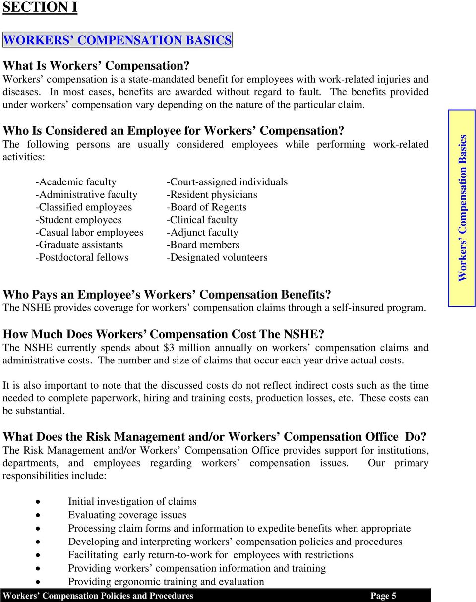 Who Is Considered an Employee for Workers Compensation?
