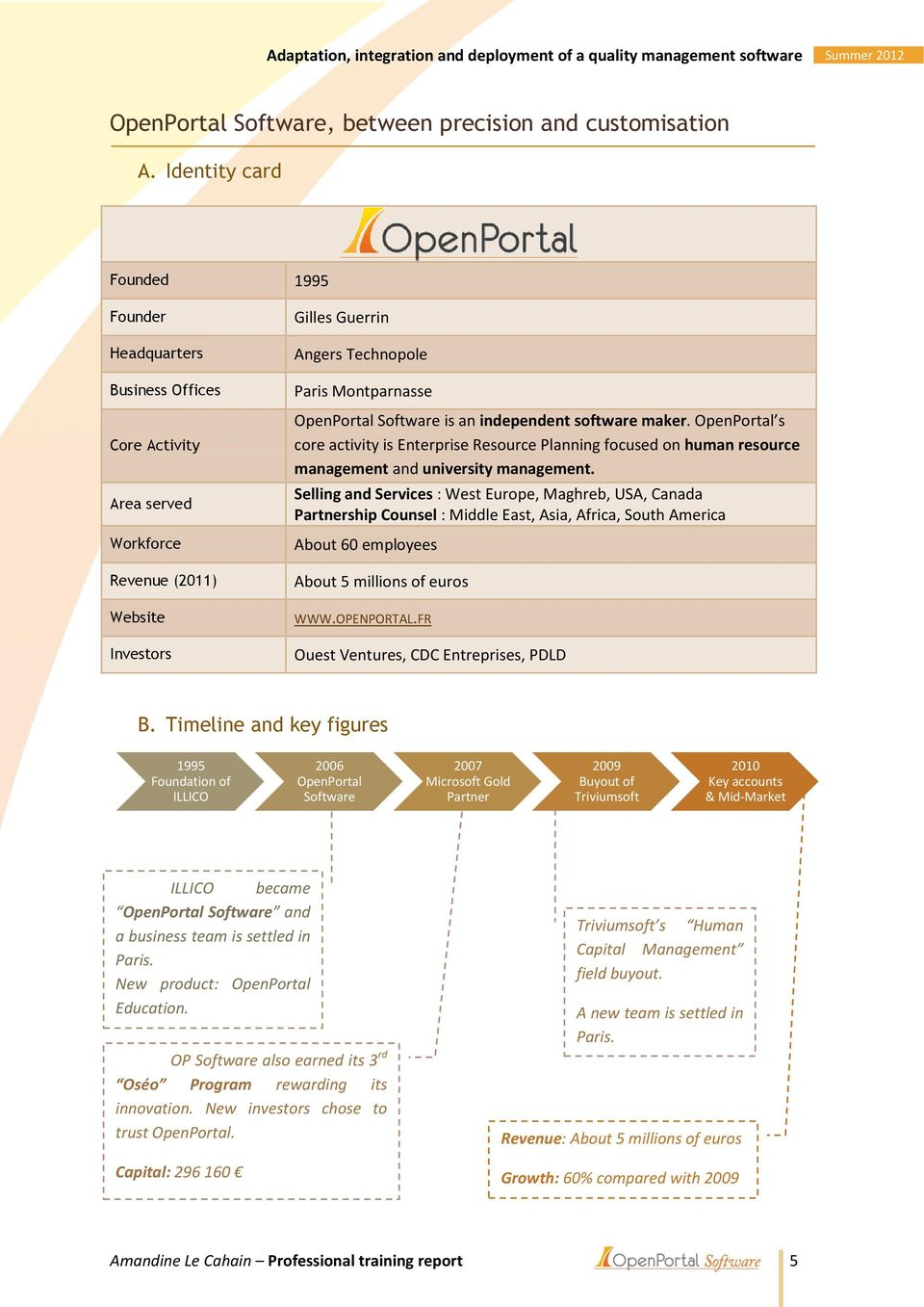 Software is an independent software maker. OpenPortal s core activity is Enterprise Resource Planning focused on human resource management and university management.