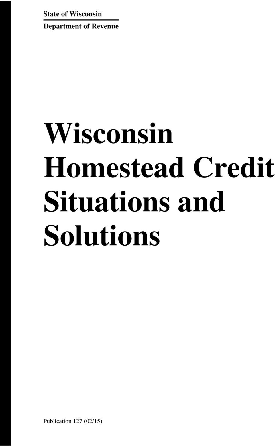 Wisconsin Homestead Credit