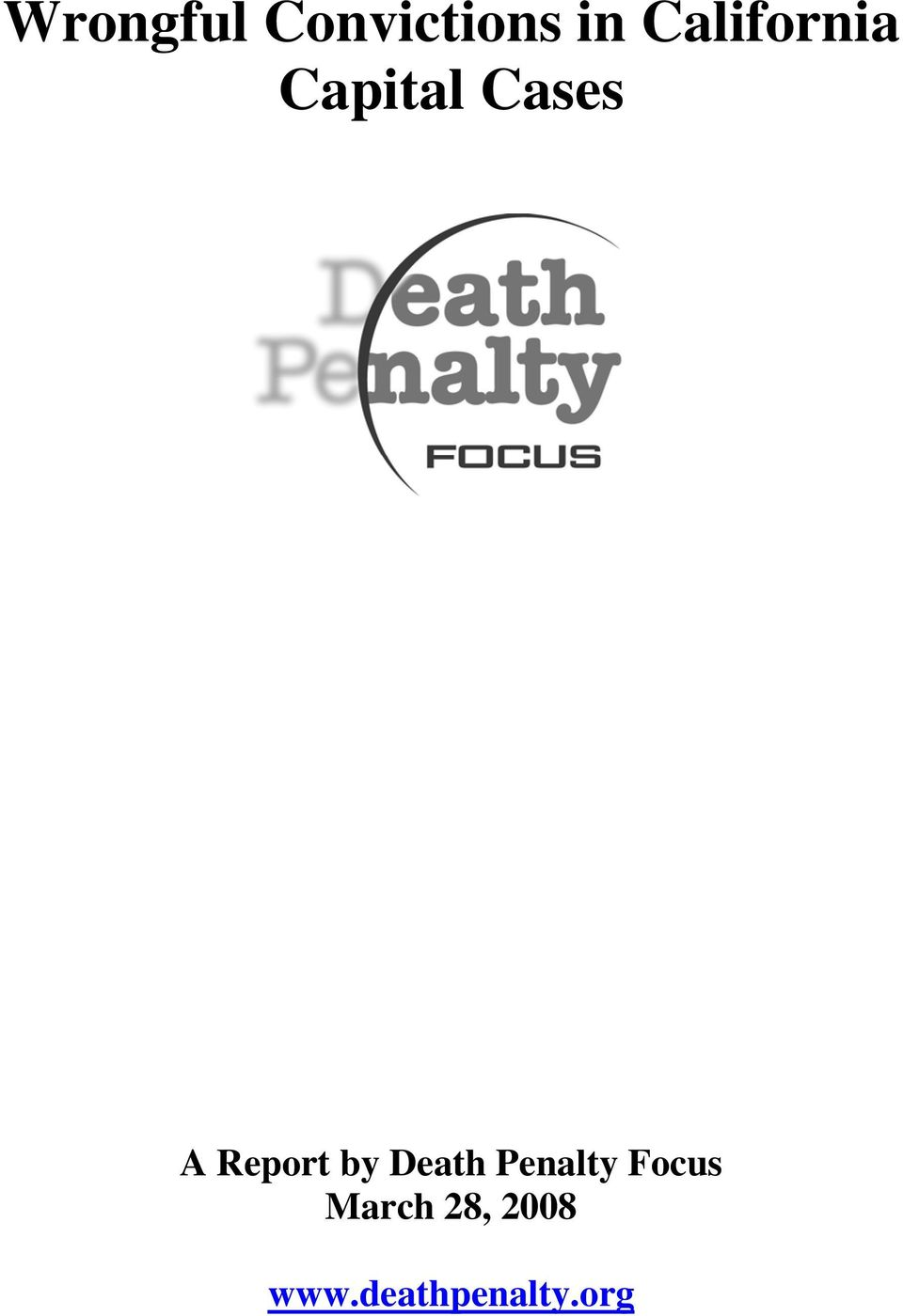 Report by Death Penalty