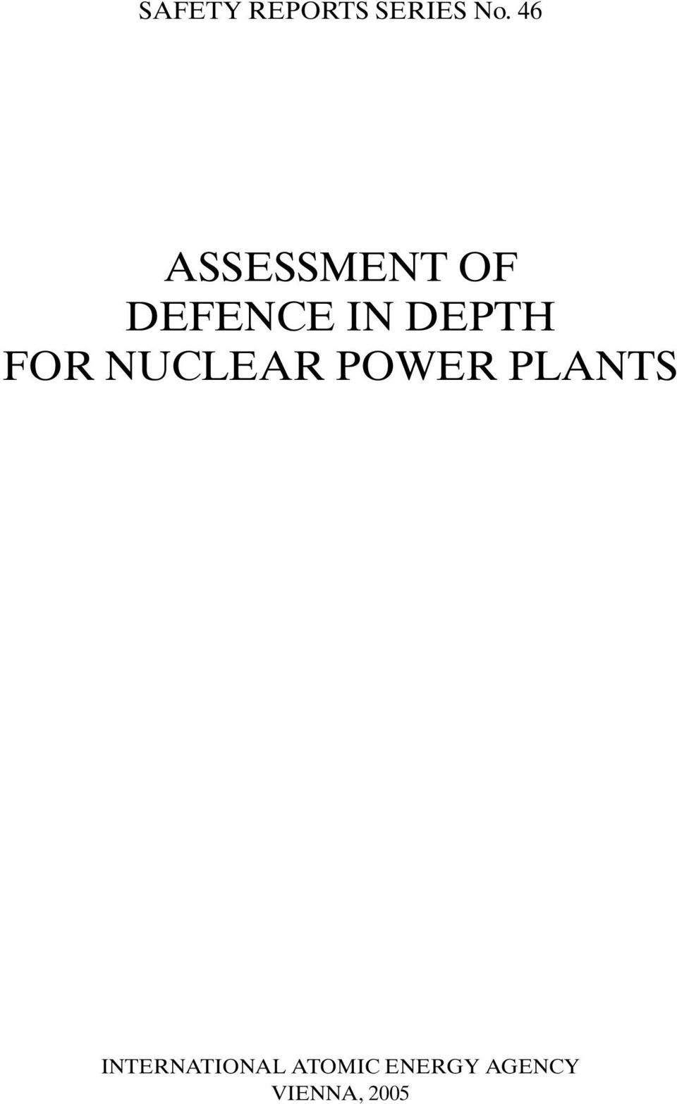 DEPTH FOR NUCLEAR POWER PLANTS