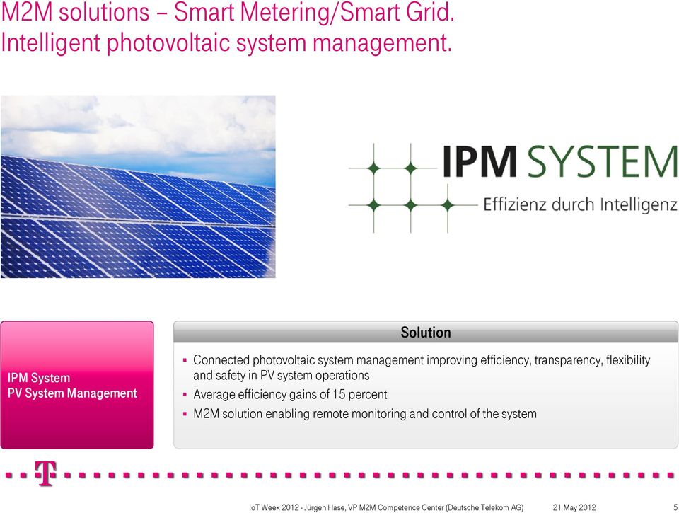 improving efficiency, transparency, flexibility and safety in PV system operations