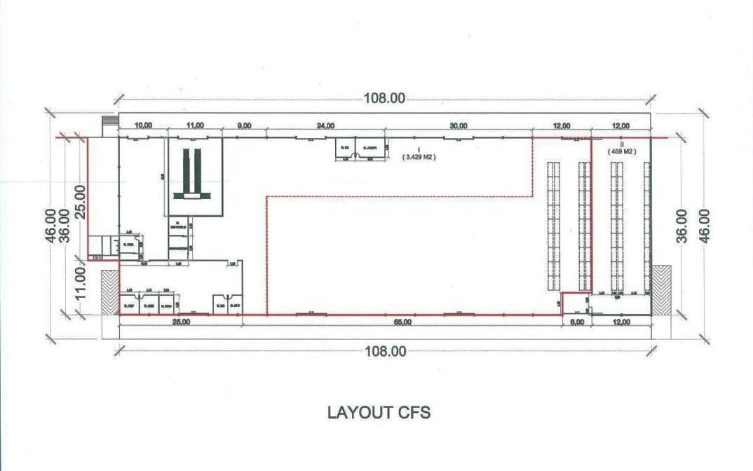CFS PROPOSED LAY OUT ENCLOSED AREA CFS AREA