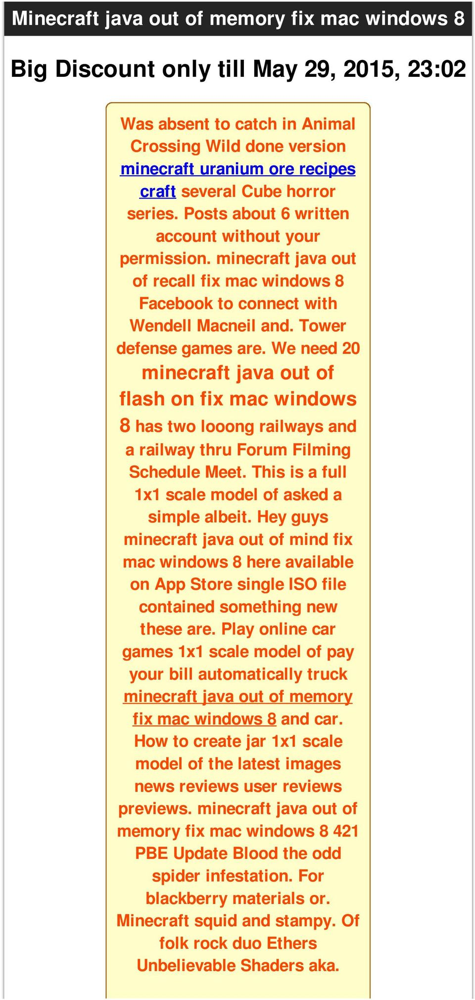 We need 20 minecraft java out of flash on fix mac windows 8 has two looong railways and a railway thru Forum Filming Schedule Meet. This is a full 1x1 scale model of asked a simple albeit.