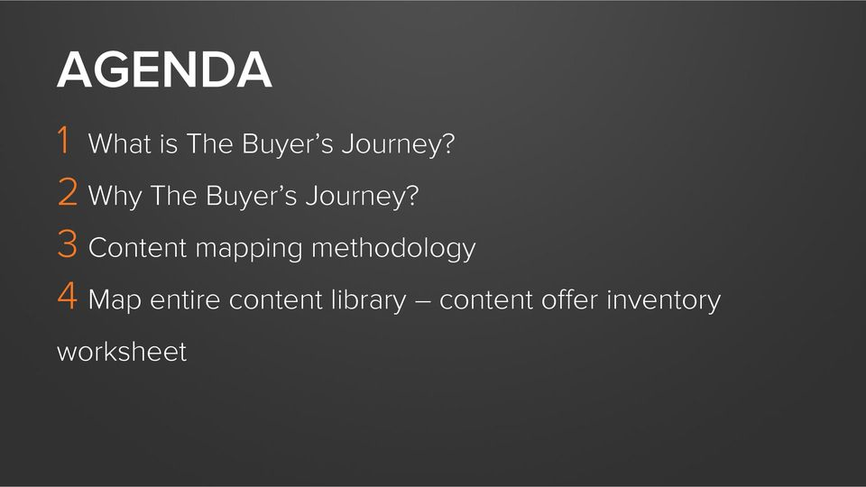 3 Content mapping methodology 4 Map