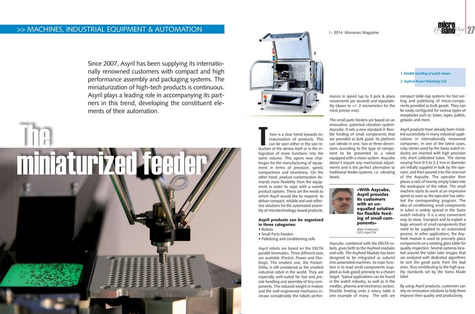 The miniaturized feeder 1. There is a clear trend towards miniaturization of products.