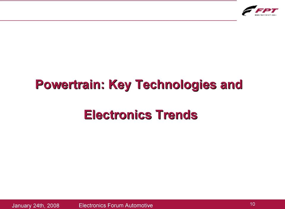 Electronics Trends