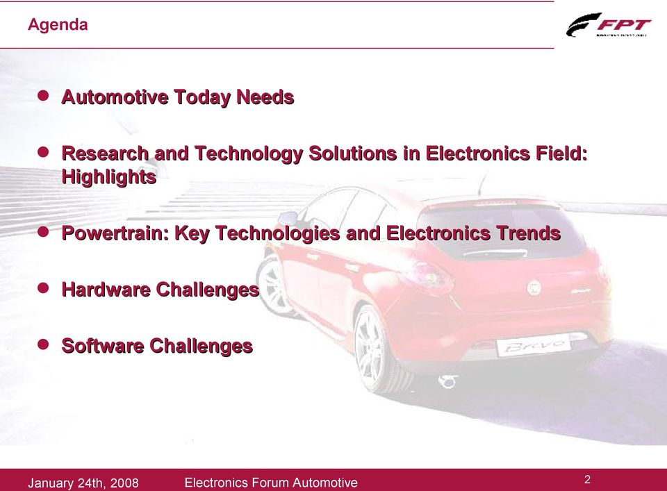 Technologies and Electronics Trends Hardware Challenges