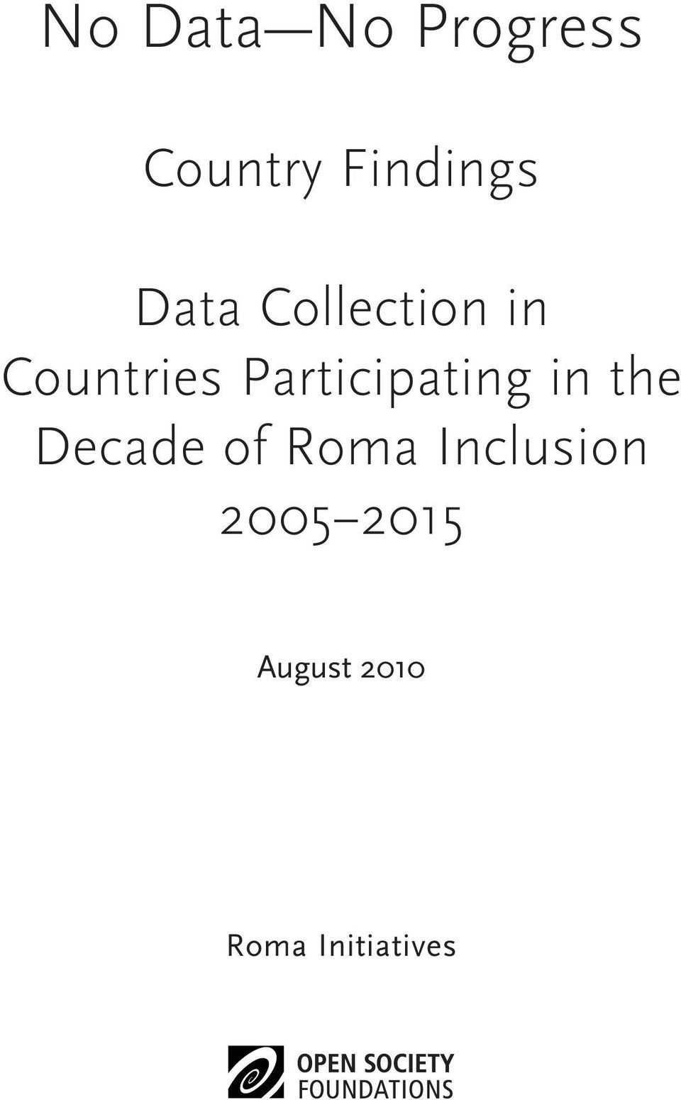 Participating in the Decade of Roma