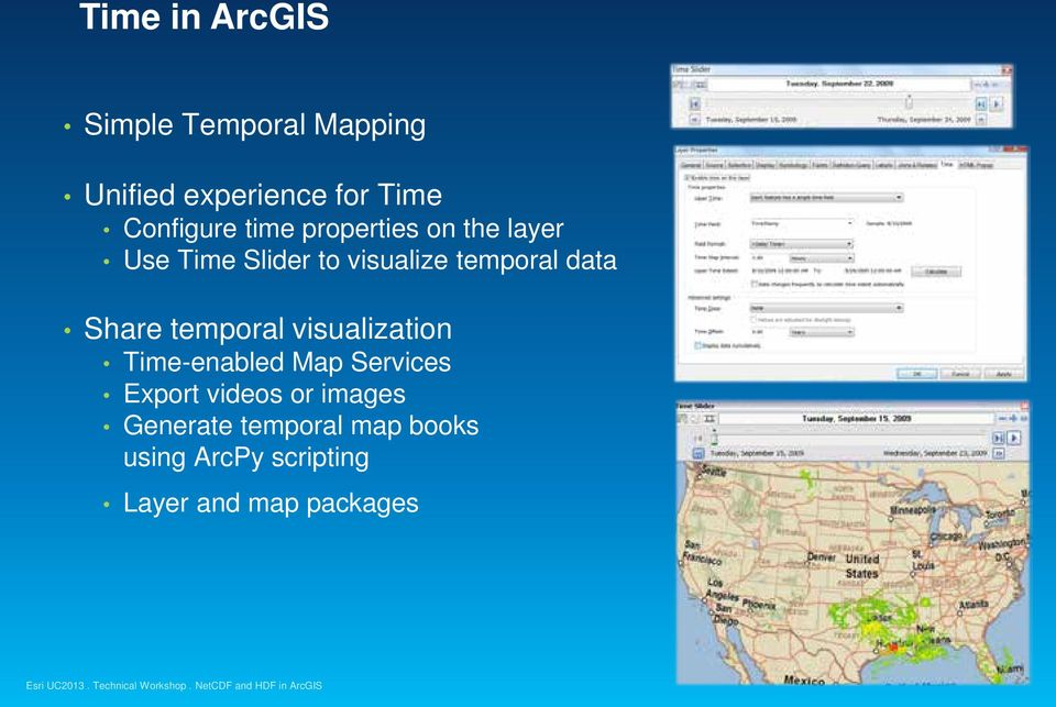 temporal data Share temporal visualization Time-enabled Map Services