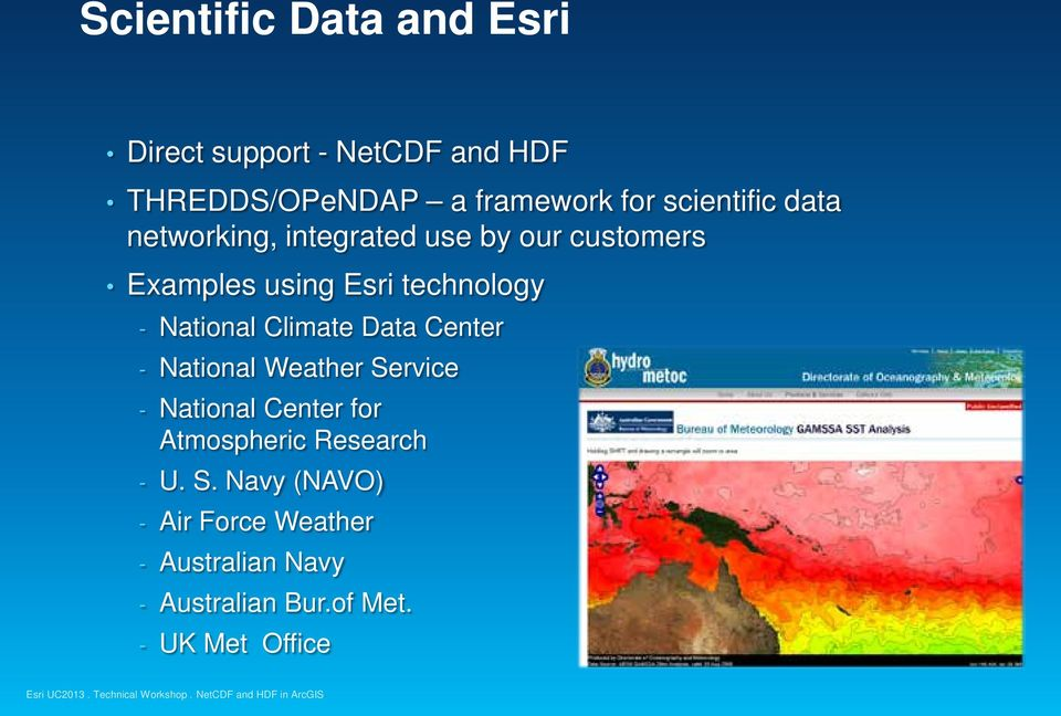 National Climate Data Center - National Weather Service - National Center for Atmospheric