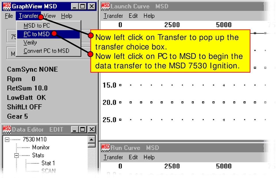 basic operation and function of the msd pro data plus best viewed now left click on pc to msd to