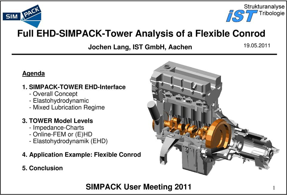 SIMPACK-TOWER EHD-Inerface - Overall Concep - Elasohydrodynamic - Mixed Lubricaion